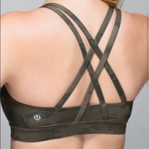 Lulu won • energy bra • incognito camo